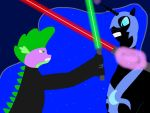 Spike Skywalker vs Darth Nightmare by Spider-Jameson