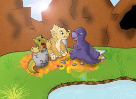 Land Before Time Hatchlings by MumbletotheSky