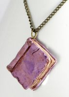 Beloved Book Purple Necklace by NeverlandJewelry
