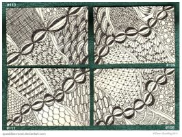 Happy Quartet ATC 108 TO 111 by Quaddles-Roost