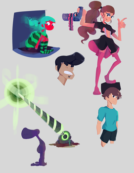 Lineless art dump (March 2017) by HyperdrivePanda