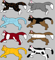 Adoptable Cats #3 by skyclan199