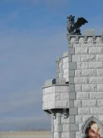 Castle Wall Gargoyle 1 by FantasyStock