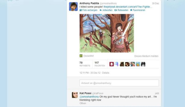 Anthony tweeted my Pic. by TheJellyKat