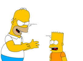 Body Swap  Homer and Bart by SuperMarcosLucky96