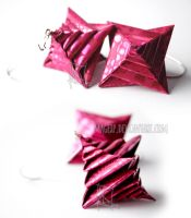 Shiny Pink Spiral Earrings :MADE TO ORDER: by MaGeXP