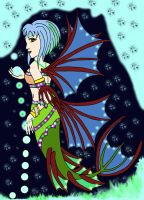 Mermaid 1 lineart/in full color by milissaroland