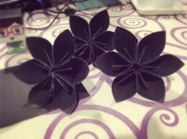 Black Flowers by Kinkina3