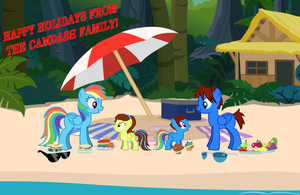 CamDash Family Vacation Postcard by LGee14