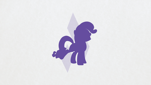 Rarity Minimalist Wallpaper by apertureninja