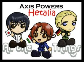 Axis Powers Hetalia chibis by Kasandra-Callalily