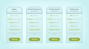 blue pricing table .psd by emrah-demirag