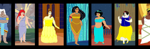 Plus Size Princesses background by ColdHeartedCupid