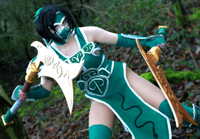 Akali- The Fist of Shadow by CauldronOfMischief