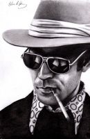 Hunter S. Thompson by MrGegner