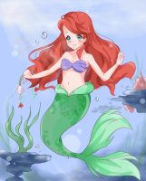 The Little Mermaid (+Video) by Minaru-Art