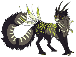 Custom Wolf Creature --Amabyllis-- by SummerAdopts