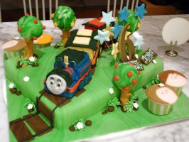 Thomas The Train Cake by Sliceofcake