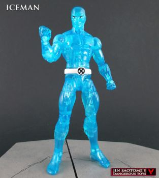Toybiz style Marvel legends custom Iceman figure by Jin-Saotome