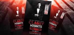 Classy Nights Flyer + Facebook Cover by LouisTwelve-Design