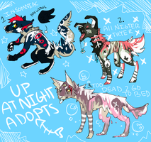 Up at Night Adopts-CLOSED by crowmap