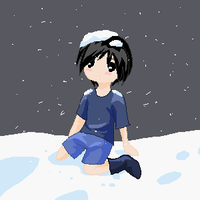 Felix in the snow by bunnyb133