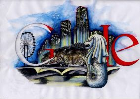 My Doodle4Google Singapore by kagami-hy