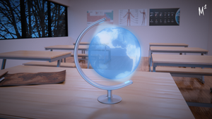Render Edit - Levitated Globe by grapejuice611