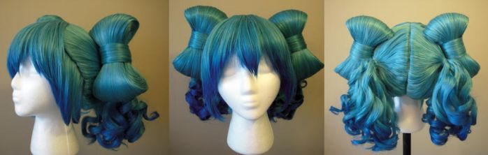 Miku Inspired Bow Wig complete by koi-ishly