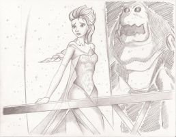 Elsa on the Balcony by ViperP99