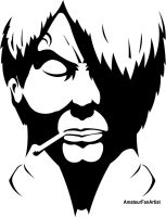 Sanji in angry shadow by AmateurFanArtist