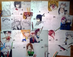 MY BEST ANIME ARTS WITH SUMMER 2014 by revinee