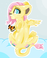 Lion Fluttershy by locinmon