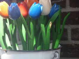Wooden Tulips by hamsternio