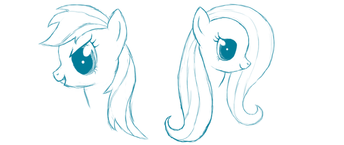 Dashy and Flutty sketch by fluttershy7