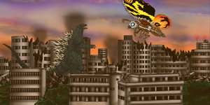 Tokyo SOS 2003- Battle in the sunset by MrJLM18
