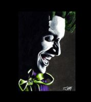 Joker Sketch Card by Dr-Horrible
