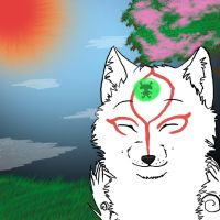 .:'When everything is peaceful.... ~' Okami:. by Sniperisawesome