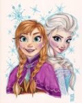 Anna and Elsa - Frozen by Kattvalk
