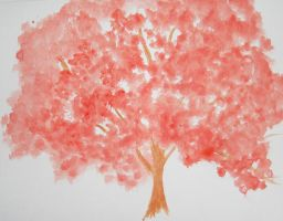 Cherry Blossoms in Watercolor by TigerBlack87