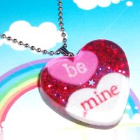 Be Mine Valentines Necklace by bapity88