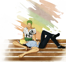 Zoro/Sanji Commission by ignitible