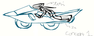 Rough Sketch of Yumi's Bike by yumithespotter