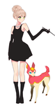 Audrey Hepburn Inspired pokemon trainer by Angromeda