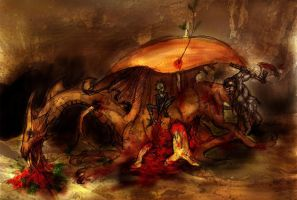 Oathenor's Defeat by LeslieEvans