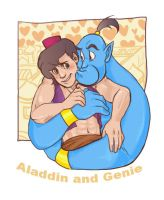 REQUEST 2-Aladdin x Genie by koenta