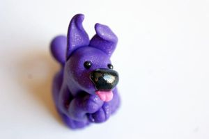 Purple Puppy by crystalcookart