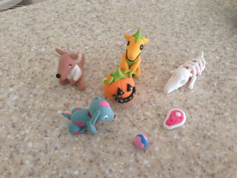 Halloween Clay Critters by hoppy9046