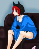 Tahani is in a Sweater by HaniHunni