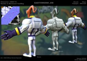 Earthworm Jim face by sterna